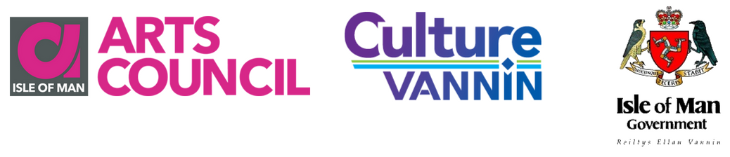 IOM Arts Council, Culture Vannin and Isle of Man Government logo